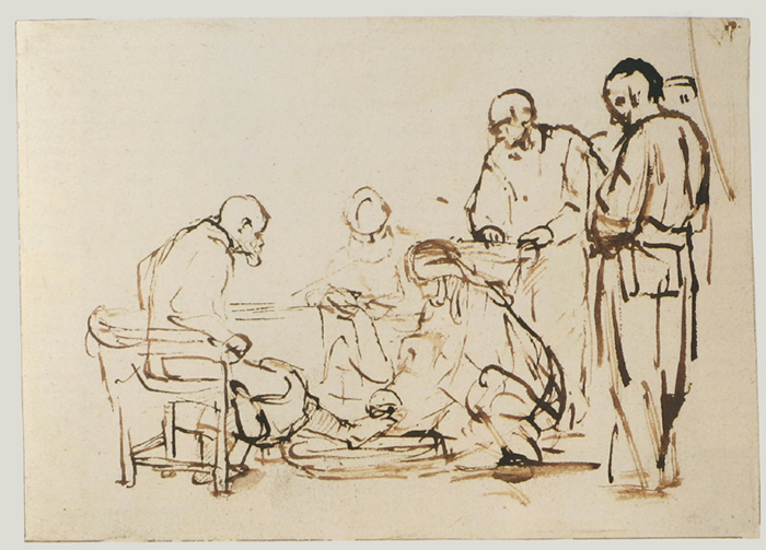 Christ Washing the Feet of his Disciples_ c_ 1655 _157 x 221mm_Rijksmuseum, Amsterdam