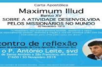 """Carta Apostólica  """"Maximum Illud"""""""